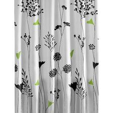 Asian Lily Cotton Shower Curtain