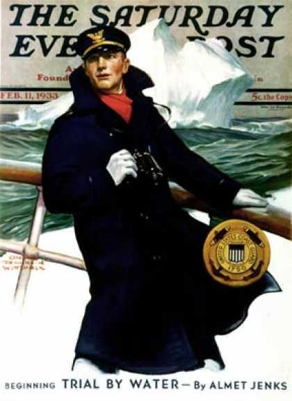 Saturday Evening Post - 1933-02-11: Coast Guard (Edgar Franklin Wittmack)