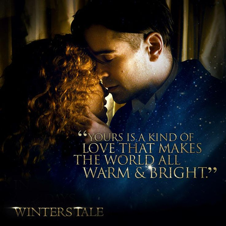 winter s tale 2014 movie quote film yours is a kind of love that