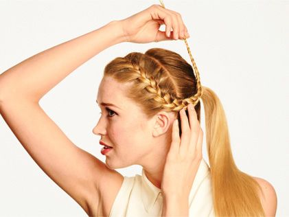 #howto french braid #ponytail #tutorial