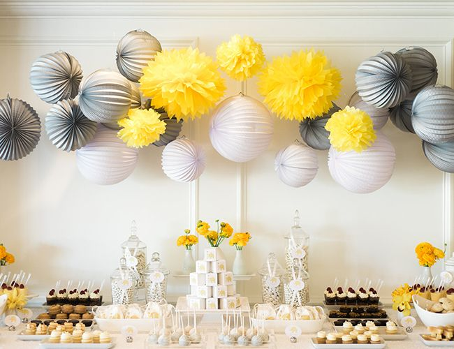 Grey Yellow Elephant Baby Shower Home Pinterest Elephant
