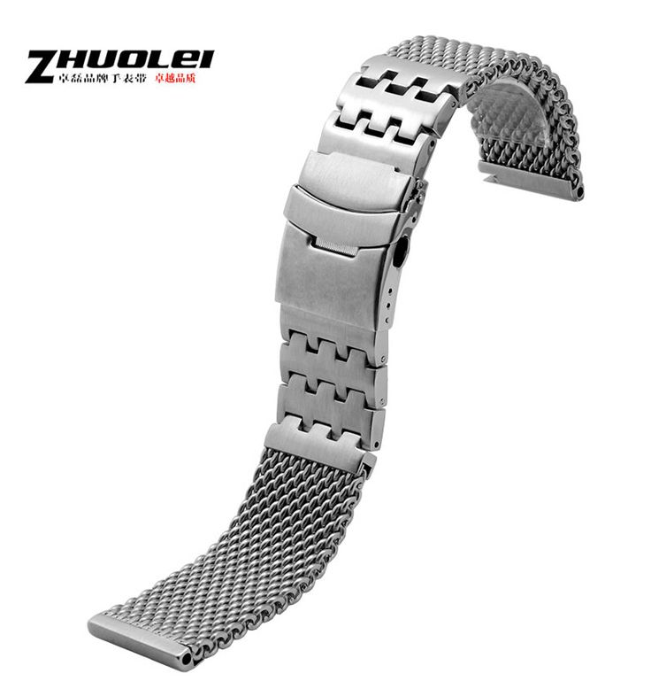 >> Click to Buy << Mesh Stainless Steel Watch Band Mens Strap Metal Bracelet 24mm mens stainless steel watchbands #Affiliate
