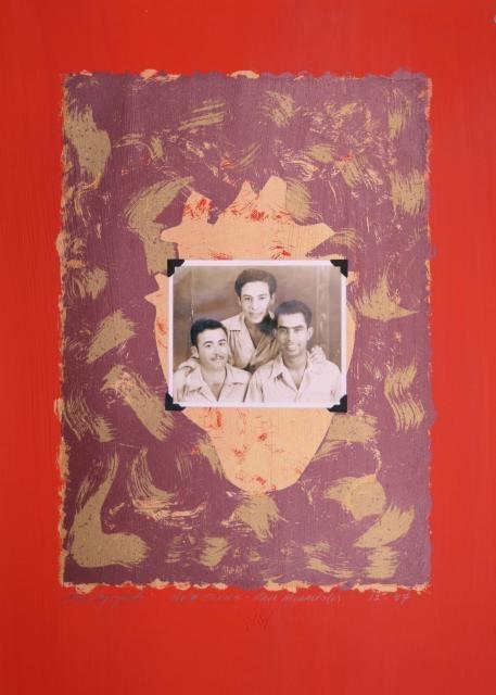 Sam Coronado,  Raul Morales,  Mixed Media  #LatinoArt #MexicanAmericanArt #serigraphy #printmaking