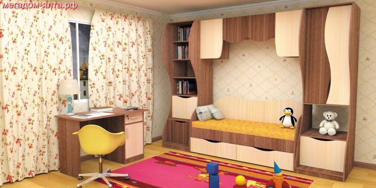 Мебельный склад-магазин»Мегадом»Ялта предлагает Вам набор мебели для детской комнаты»Простоквашино». Набор этой замечательной мебели содержит все необходимое для качественной учебы и отдыха вашего любимого ребенка. Мебель изготовлена из экологически чистого материала, и совершенно безопасна для здоровья ребенка. Все материалы для этой мебели прошли множество сертификаций. Изящные линии и формы этого набора создают впечатление удовлетворенности и комфорта