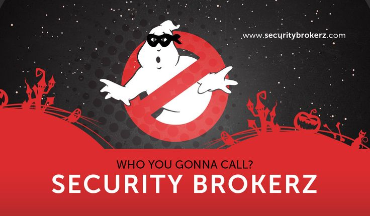 Call Security Brokerz to take care of the real spooks!  www.securitybrokerz.com/contact-us/ #whoyougonnacall #SB #criminalbusters #halloween