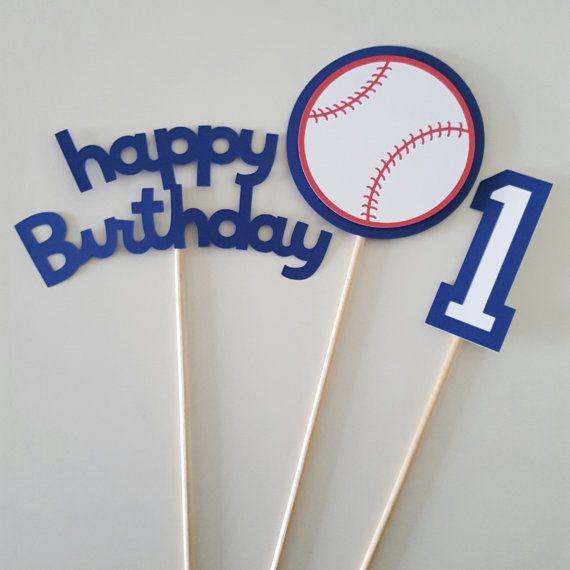 Partido de béisbol de centro de mesa cumpleaños béisbol