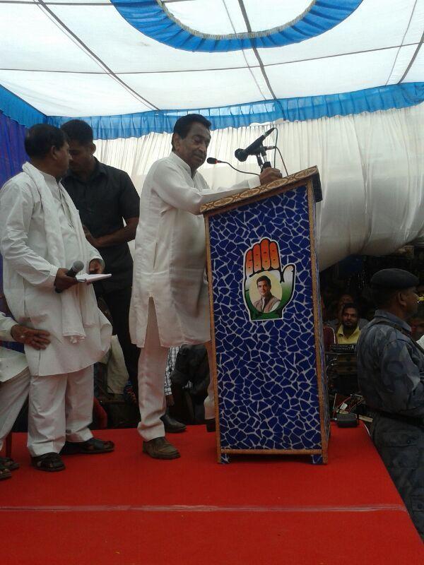 Shri Kamal Nath addressing a large gathering in Junnardeo #KamalNath #Junnardeo #PoliticalRally #Election2014 #ElectionTracker #IndianNationalCongress #INC #India #Rally #Politics