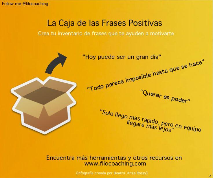 Nueva herramienta en filocoaching! http://filocoaching.com/la-caja-de-tus-frases-positivas/