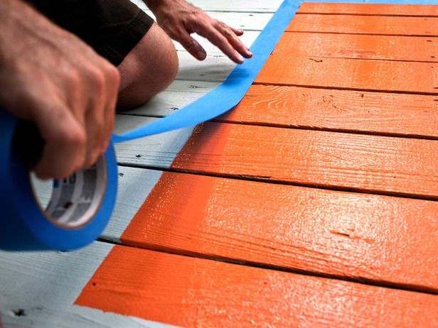 Spruce Up a Deck With a Painted Rug - on HGTV