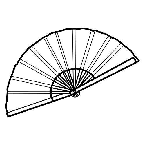 Hand Fan Clipart Black And White Dibujos Abanicos Nordico