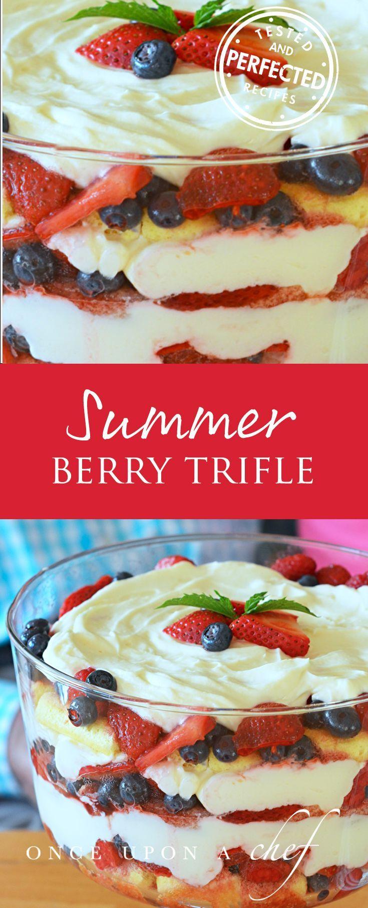 Best Summer Berry Trifle  Use gluten free pound cake or lemon muffins