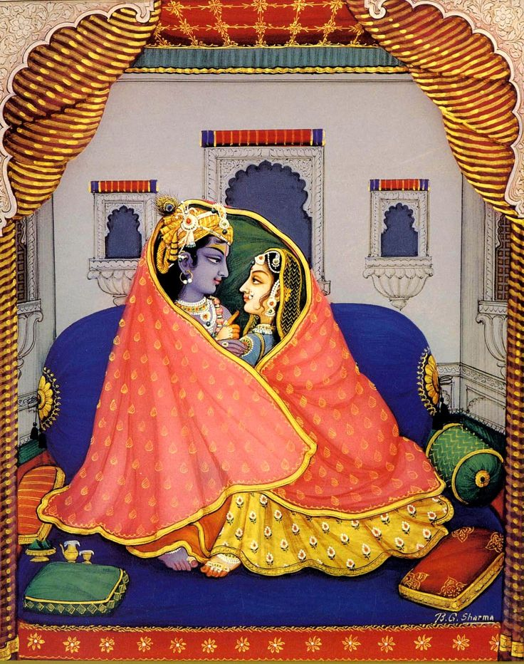 Wrapped in love.. The Divine Couple... Radha & Krishna
