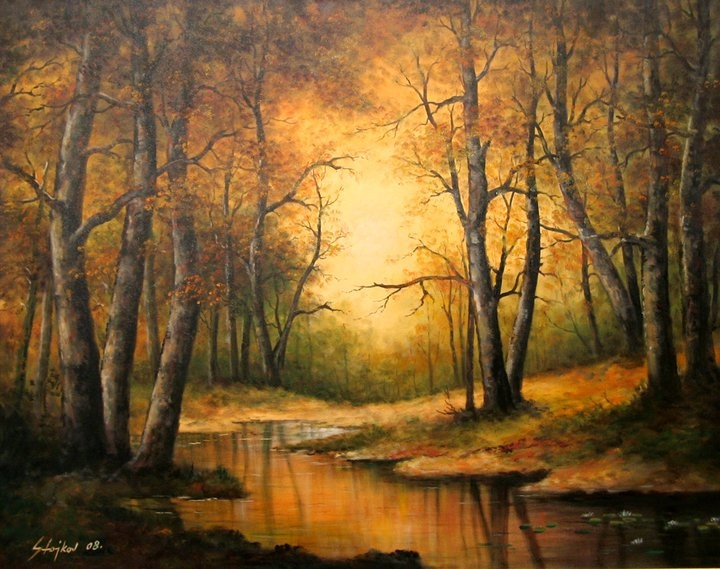 Jesen u šumi - Autumn in the Forest (ulje na platnu - oil on canvas, 2007)