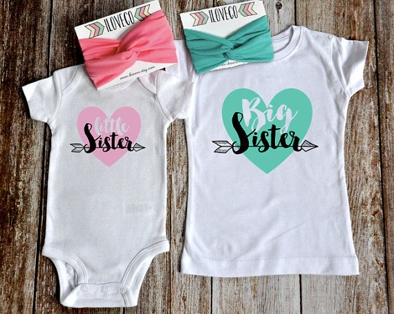 Big Sister T-Shirt & Little Sister Bodysuit / by iloveco on Etsy