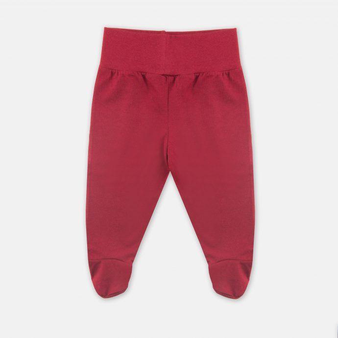 spodnie stopy bordowe
