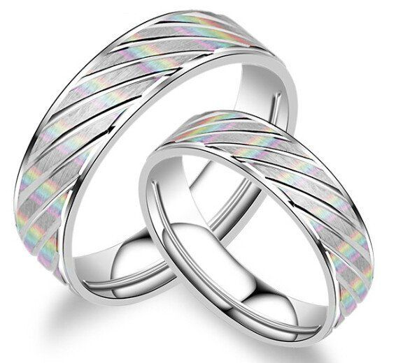 DAFU 100% 925 Sterling Silver Couples Rings FREE SHIPPING