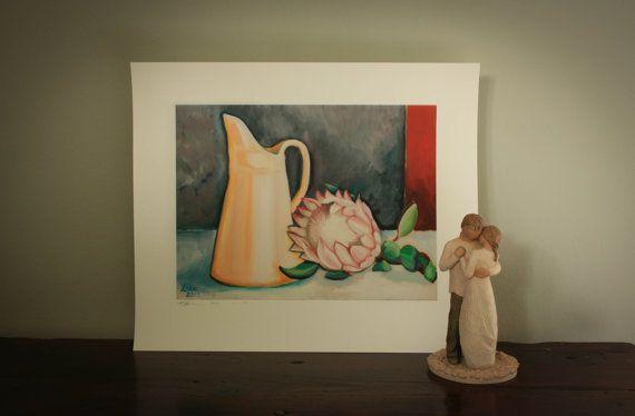 still life protea by LikaHorn on Etsy