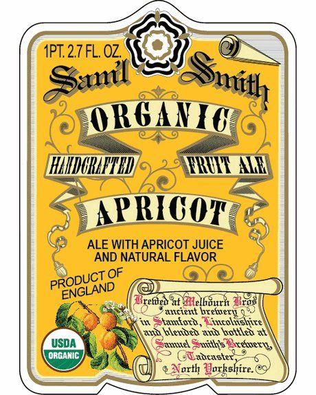 Sam'l Smith Organic Apricot Ale: We are not big into fruit ales. But THIS IS INCREDIBLE.