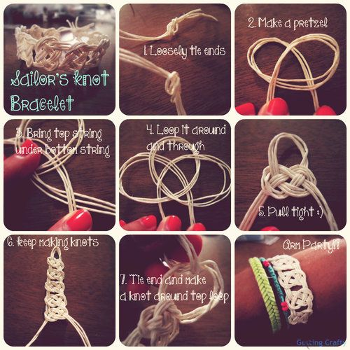 diy sailor knot bracelet | DIY Sailor's Knot Bracelet
