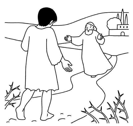 Prodigal Son Coloring Sheets | parable of prodigal son-the lost son-biblekids.eu