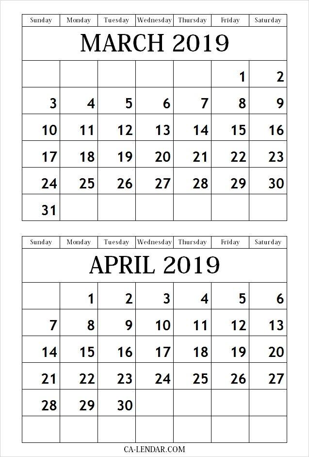 Free March April May 2020 Calendar Printable Templates Calendar