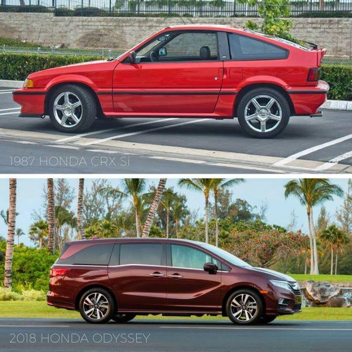 Tbt 1987 Honda Crx Si Vs 2018 Odyssey