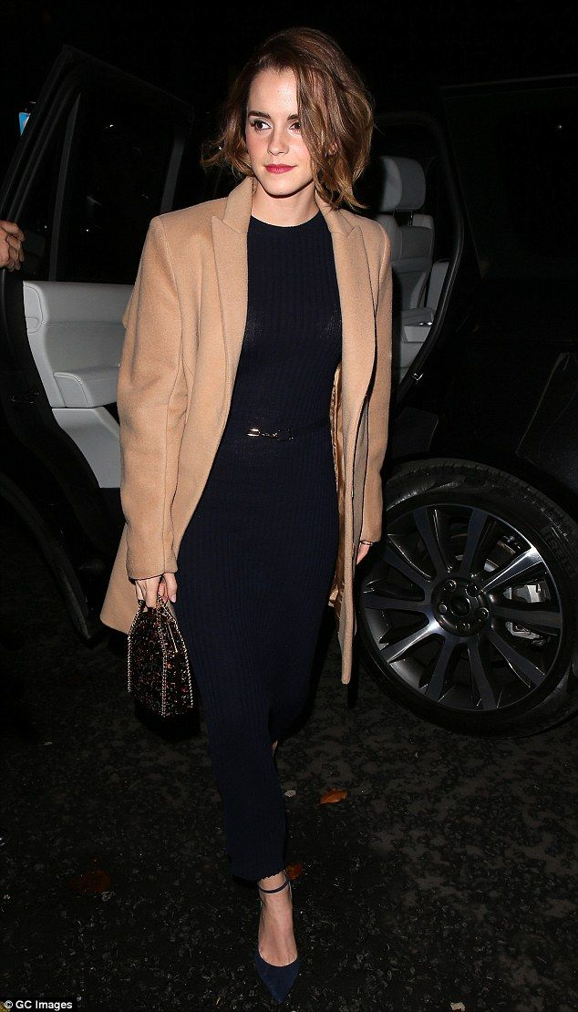 Stylish: Emma was seen arriving at a screening for new documentary The True Cost in central London on Tuesday evening, where she sported the new hair 'do