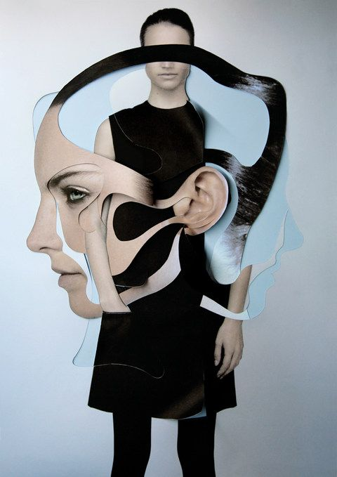 Example of manual photo manipulation, a photo collage. ArtList - Photography - Damien Blottiere - FASHION & BEAUTY - Dazed & Confused
