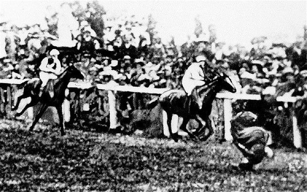 Emily Wilding Davison at the Derby Few individuals have made a more powerful protest than suffragette Emily Wilding Davison, who threw herself under a horse owned by King George V at the Epsom Derby in 1913. Some believe she was only trying to attach a suffragette flag to the horse, but she quickly became celebrated as a feminist martyr. Universal suffrage was finally introduced in 1928.