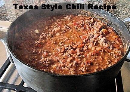 Texas Style Chili Recipe
