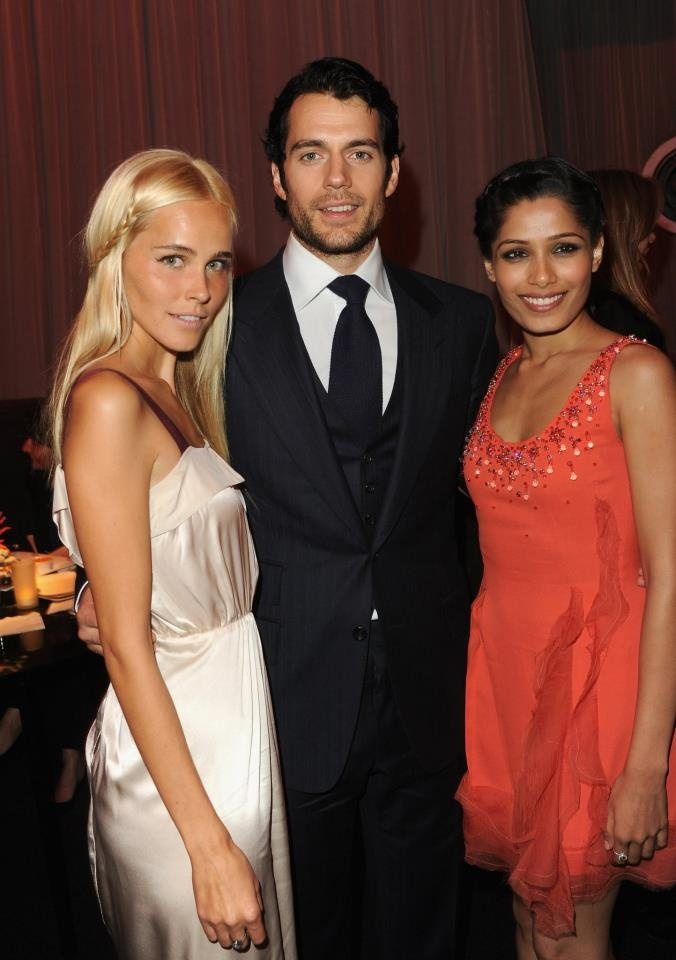 """Relativity Media Presents The World Premiere Of """"Immortals"""" - After Party    LOS ANGELES, CA - NOVEMBER 07: (L-R) Actors Isabel Lucas, Henry Cavill and Freida Pinto arrive at Relativity Media's Immortals premiere after party presented in RealD 3 at Nokia Theatre L.A. Live on November 7, 2011 in Los Angeles, California. (Photo by Jason Merritt/Getty Images for Relativity Media) *** Local Caption *** Isabel Lucas;Henry Cavill;Freida Pinto 2011 Getty Images"""