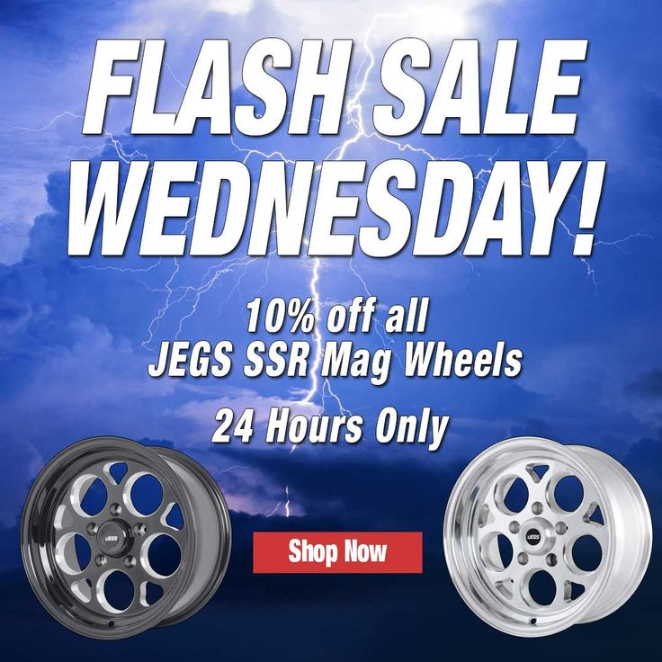Who Has The JEGS SSR Mag Wheels On Their Vehicle? Check Them Out On SALE TODAY ONLY: http://www.jegs.com/p/JEGS-Performance-Products/JEGS-SSR-Mag-Wheels/3629201/10002/-1 #FlashSaleWednesday #FlashSale #Discount #Deal #ILoveJEGS #INeedThis #SSRMagWheels #Wheels