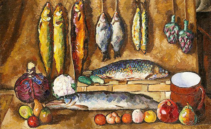 Илья Машков. Натюрморт: рыбы, овощи, фрукты
