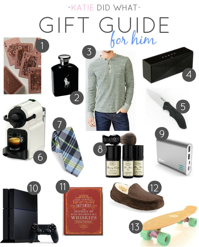 Gift guide for him best of katie did what pinterest gift for Mens gift exchange idea