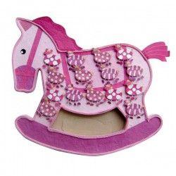 Expositor caballo rosa + 15 cajitas cebras