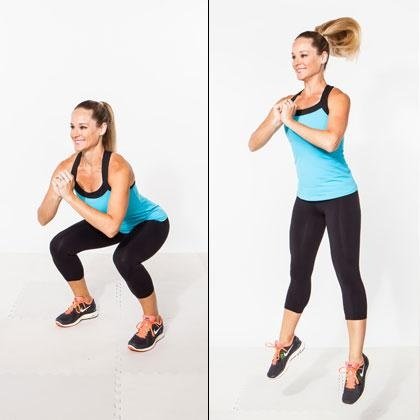 The In n' Out Plyo Squat - Top 10 Moves for a Tighter Tush - Shape Magazine - Page 4
