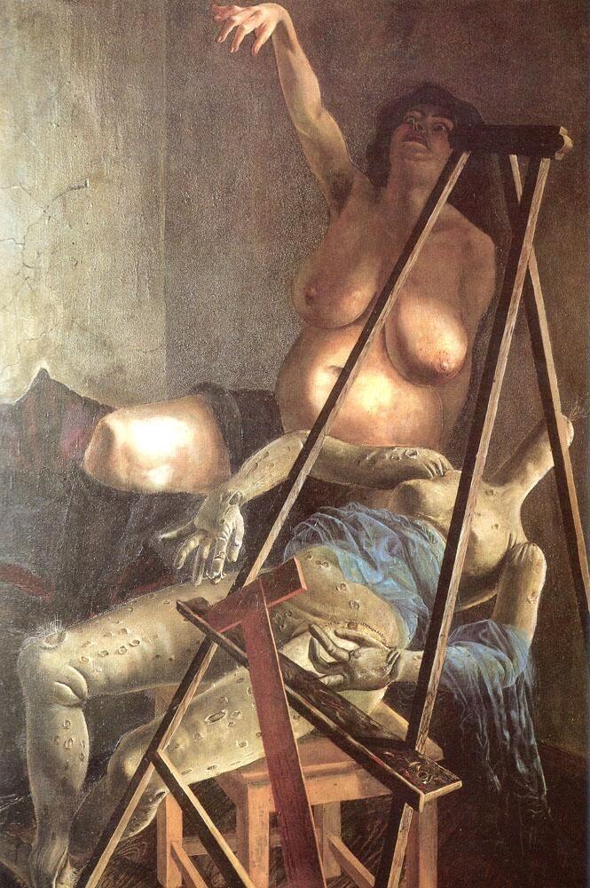 オットー・ディックス『アトリエの静物』(1924) Otto Dix - Stilleben im Atelier #新即物主義