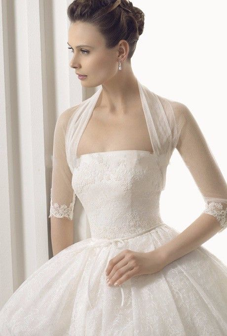 2016 Cheap HOT SALE Long 3/4 Sleeve Lace Bridal Bolero Jacket Free Shipping Elegant Cheap Tulle Wedding Jackets Wrap Bridal