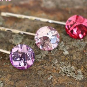 Bring some charm and sparkle to your hair with these Beautiful Bobby Pins. Simple yet glamorous, these DIY hair accessories are the perfect way to make your hair shine with style and personality. They also make cute Valentine's Day hair clips if you decide to use red, white, or pink jewels.
