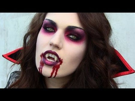 i am going to add reds and purples to the shawowy makeup instead of using solid black - in cheek contour and around eyes