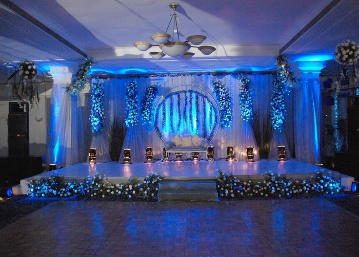 Themed Wedding Stage Decoration Ideas : Seating arrangement of bride and groom or the wedding