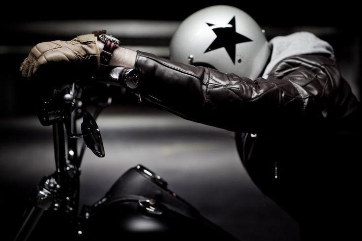 star helmet and bobber #motorcycle #motorbike