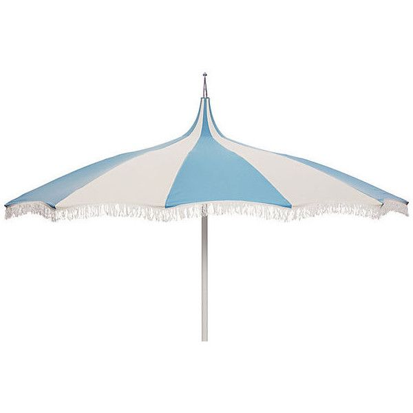 ($499) ❤ Liked On Polyvore Featuring Home, Outdoors, Patio Umbrellas, White  Patio Umbrella, Outdoor Patio Umbrellas, White Outdoor Umbrella, Outdoor ...