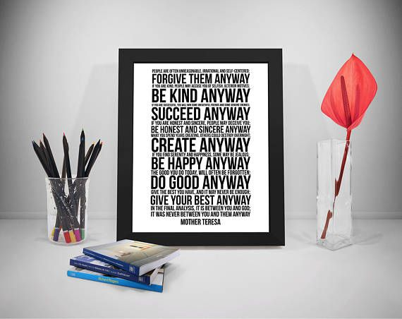 Mother Teresa Do It Anyway Printable Quotes People Are Often
