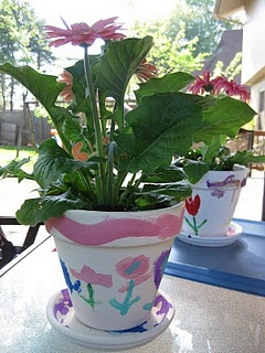 painting flower pots--simple special gifts