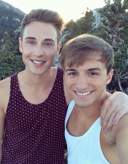 YouTubers Lucas Cruikshank and Matthew Fawcus...