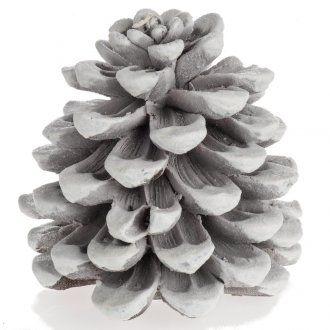 Candela natalizia pigna bianca 2 | vendita online su HOLYART