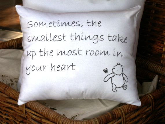Winnie the Pooh Smallest Things QuoteWhite or by ToPonderandDream, $15.00: