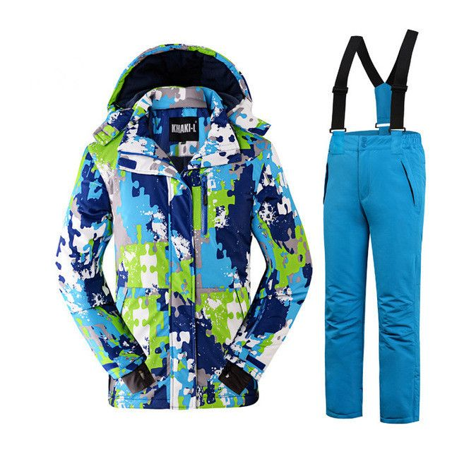 Winter Ski Suit Ski Suit Snowboarding Suits Snow Suit Men Ski Clothing Men Colorful Outdoor Jacket
