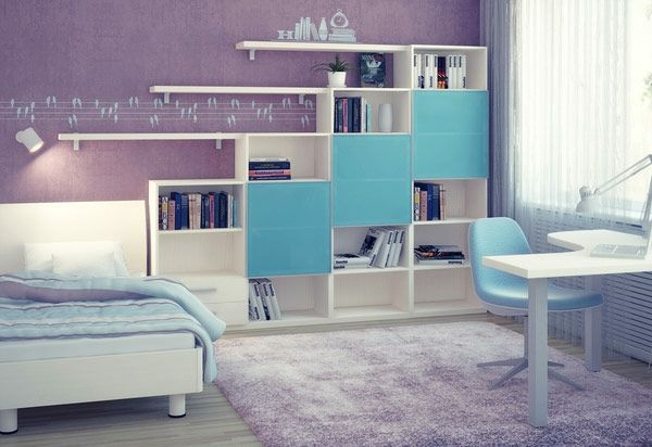 lila-blaues-Jungenzimmer-Wandtattoo